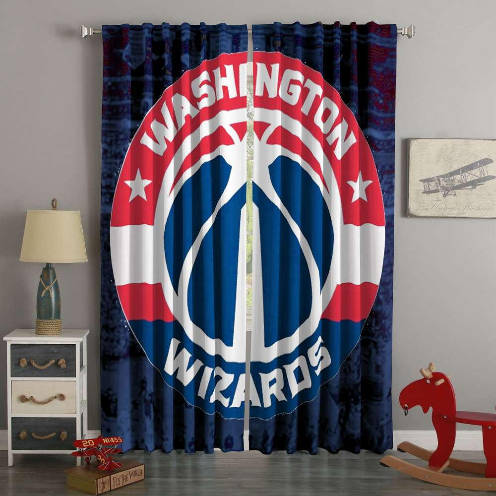 3D Printed Washington Wizards Style Custom Living Room Curtains