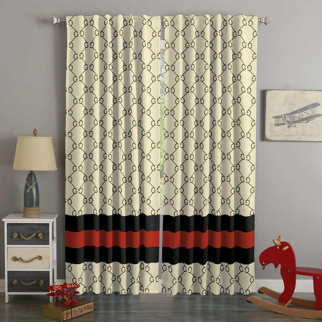 3D Printed Fashion Brand Style Custom Living Room Curtains