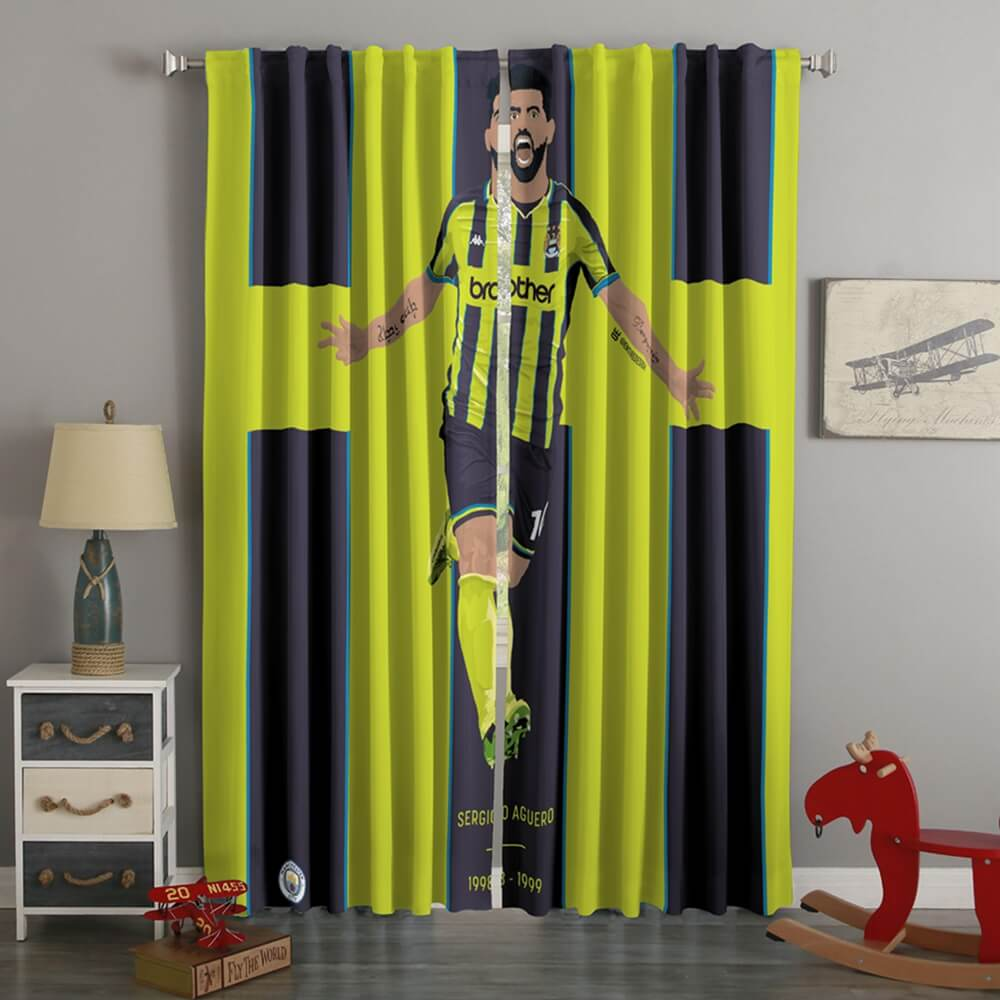 3D Printed Sergio Aguero Style Custom Living Room Curtains