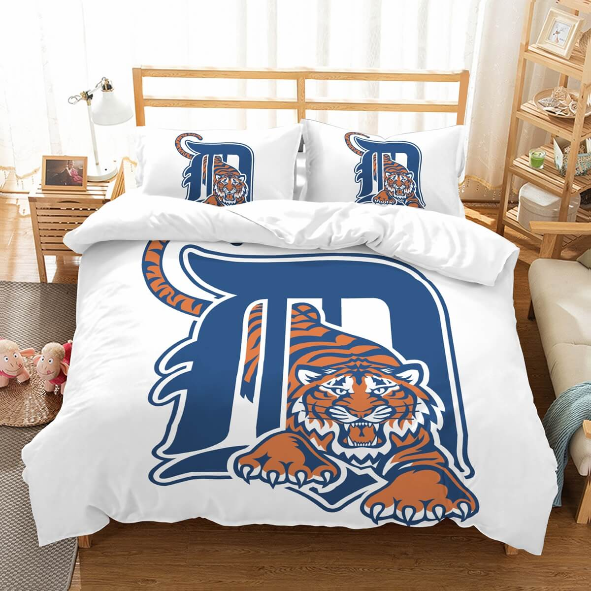 3D Customize Detroit Tigers Bedding Set Duvet Cover Set Bedroom Set Bedlinen