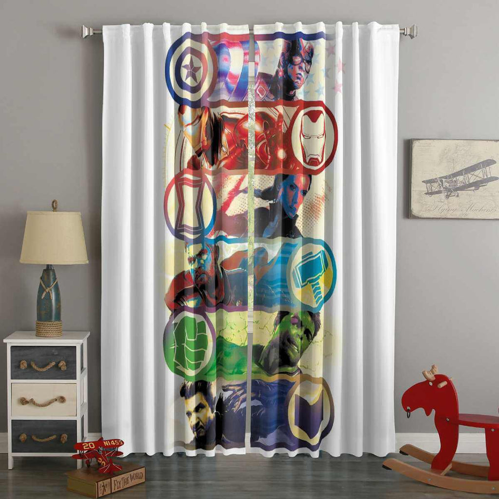3D Printed Avengers Style Custom Living Room Curtains