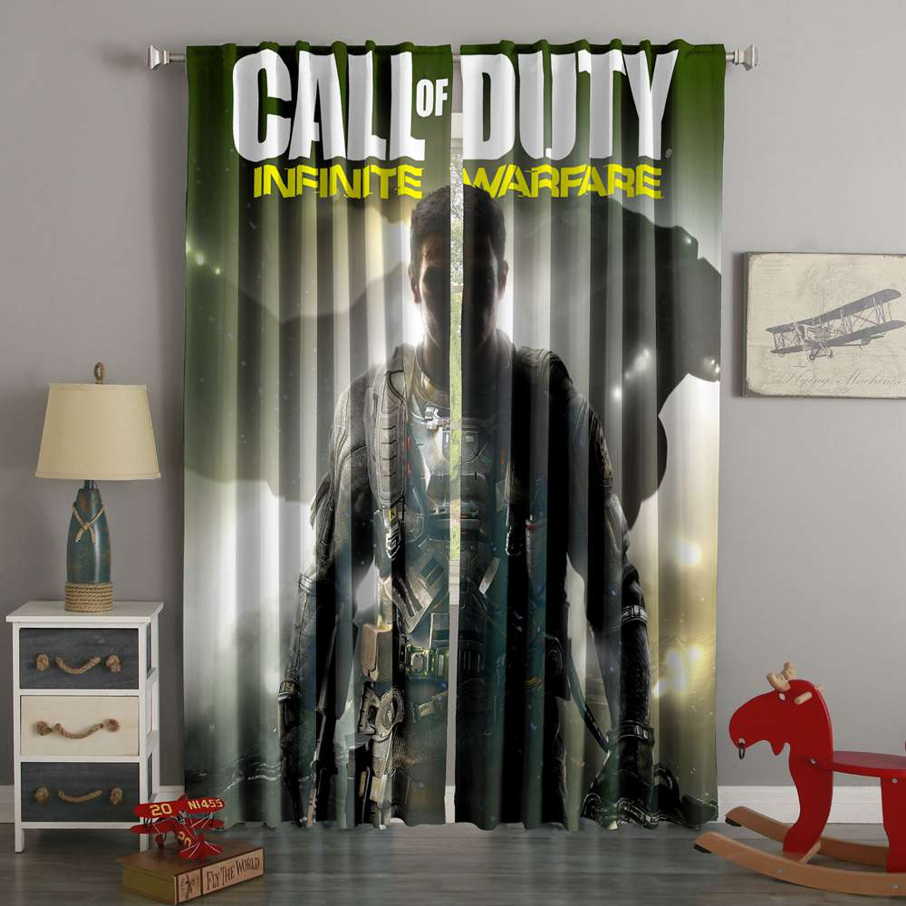 3D Printed Call Of Duty Infinite Warfare Style Custom Living Room Curtains
