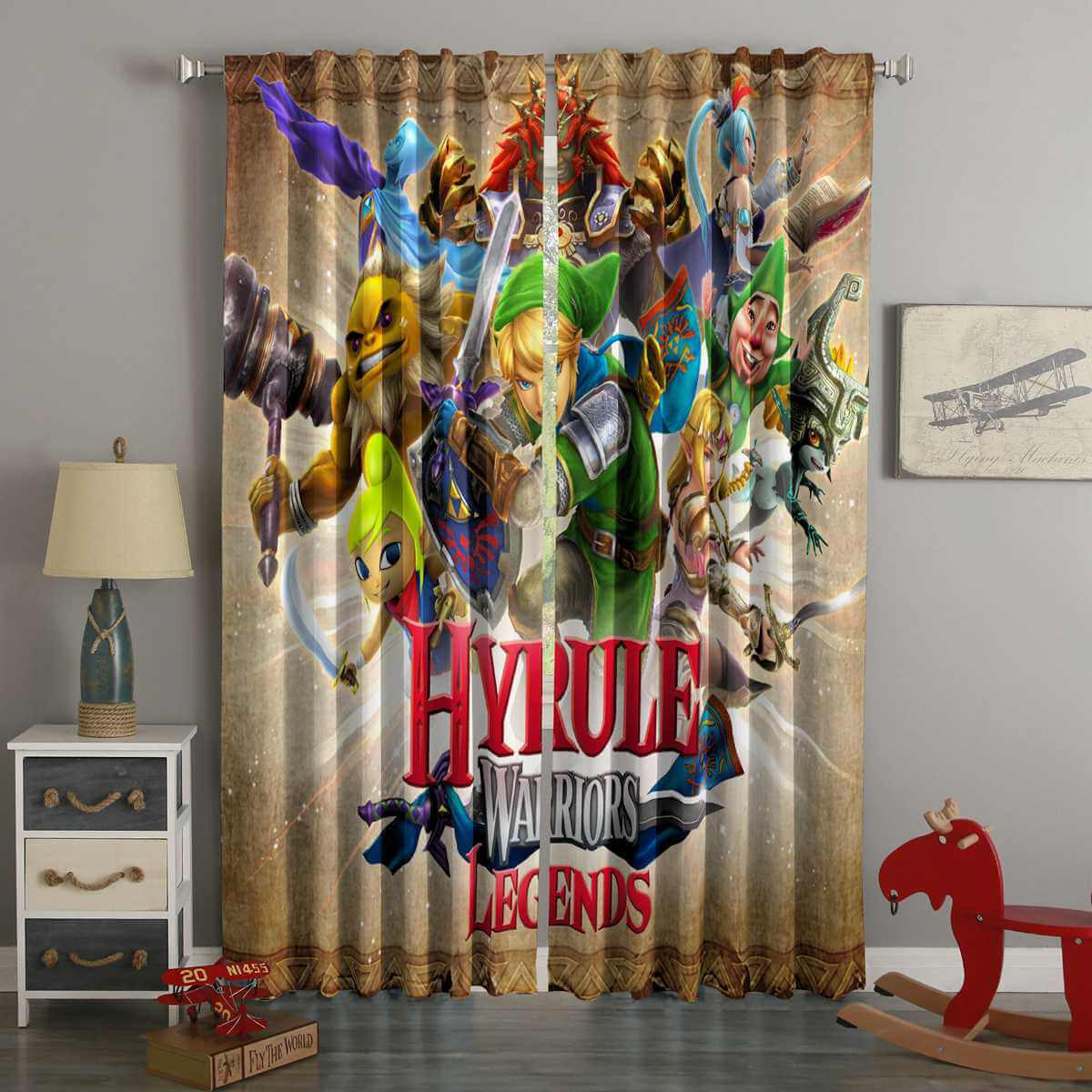 3D Printed Hyrule Warriors Style Custom Living Room Curtains