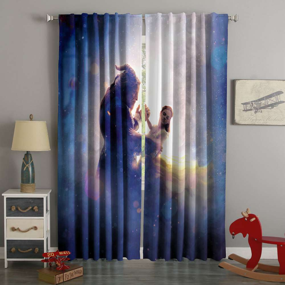 3D Printed Beauty and The Beast Style Custom Living Room Curtains