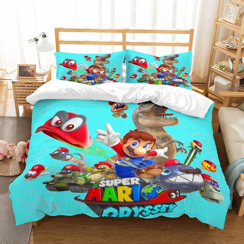 3D Customize Super Mario Odyssey Bedding Set Duvet Cover Set Bedroom Set Bedlinen