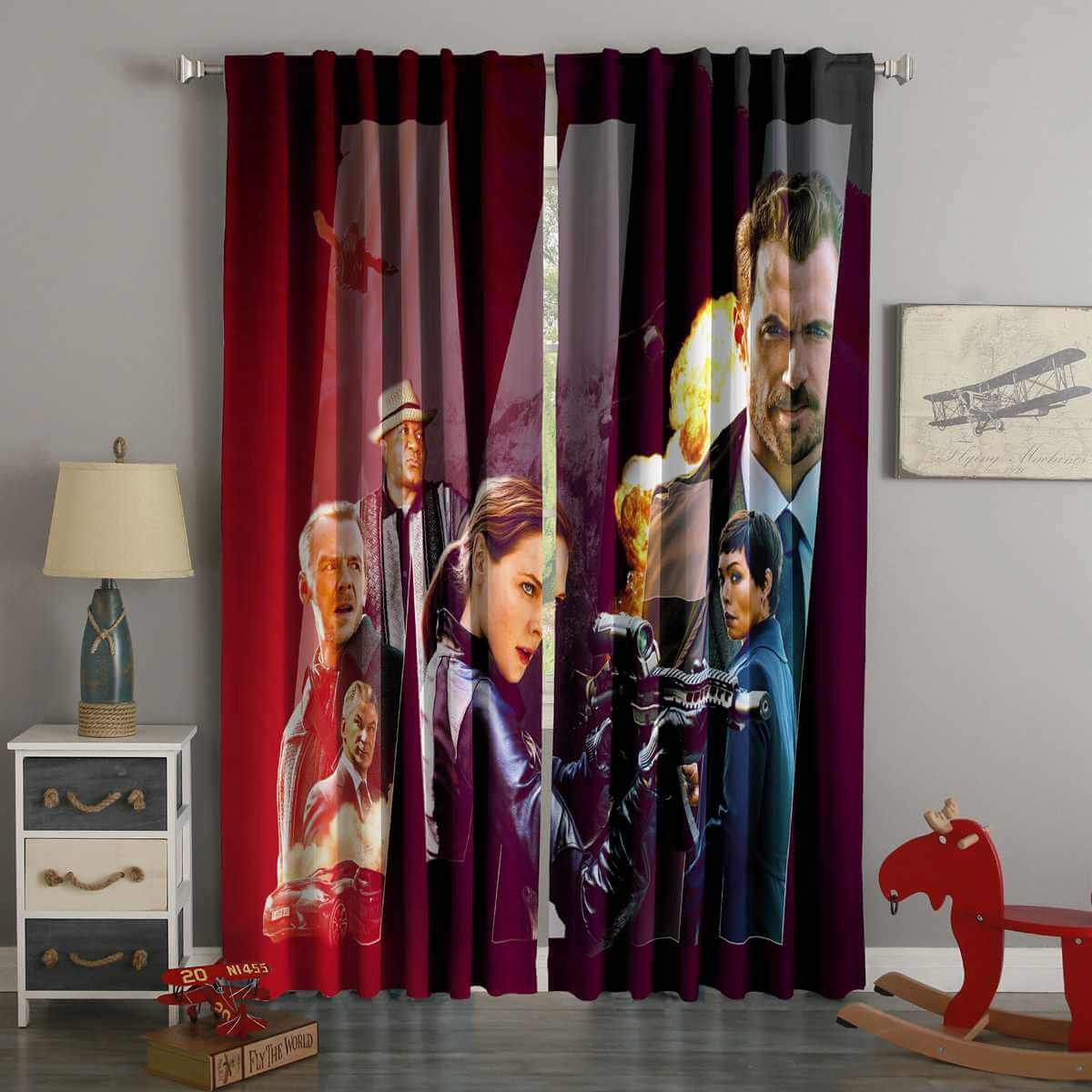 3D Printed Mission Impossible Fallout Style Custom Living Room Curtains