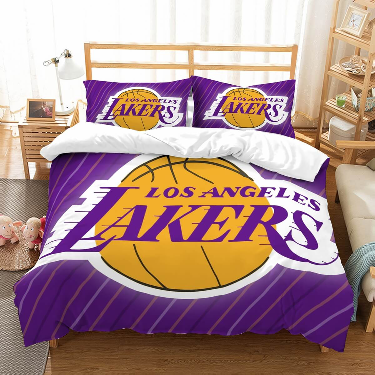 3D Customize Los Angeles Lakers Bedding Set Duvet Cover Set Bedroom Set Bedlinen