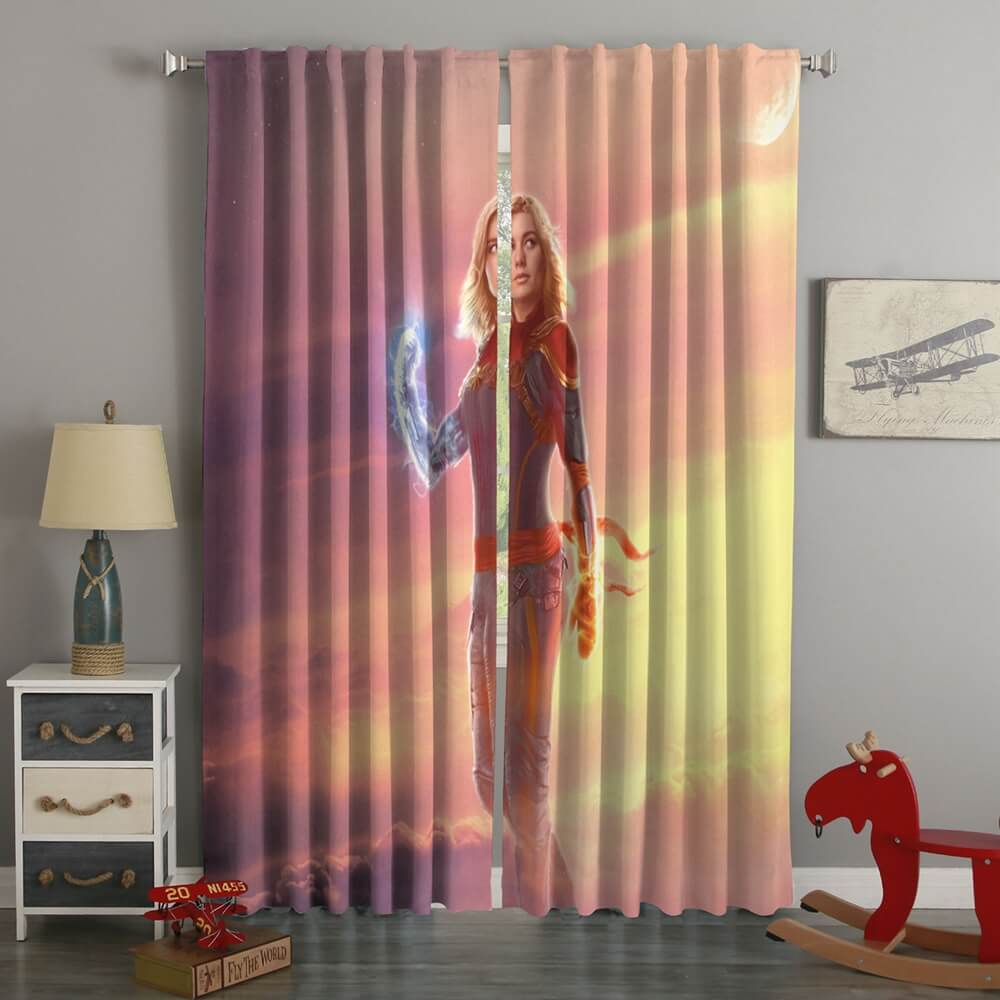 3D Printed Captain Marvel Style Custom Living Room Curtains