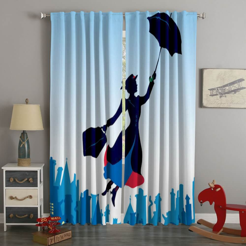 3D Printed Mary Poppins Returns Style Custom Living Room Curtains