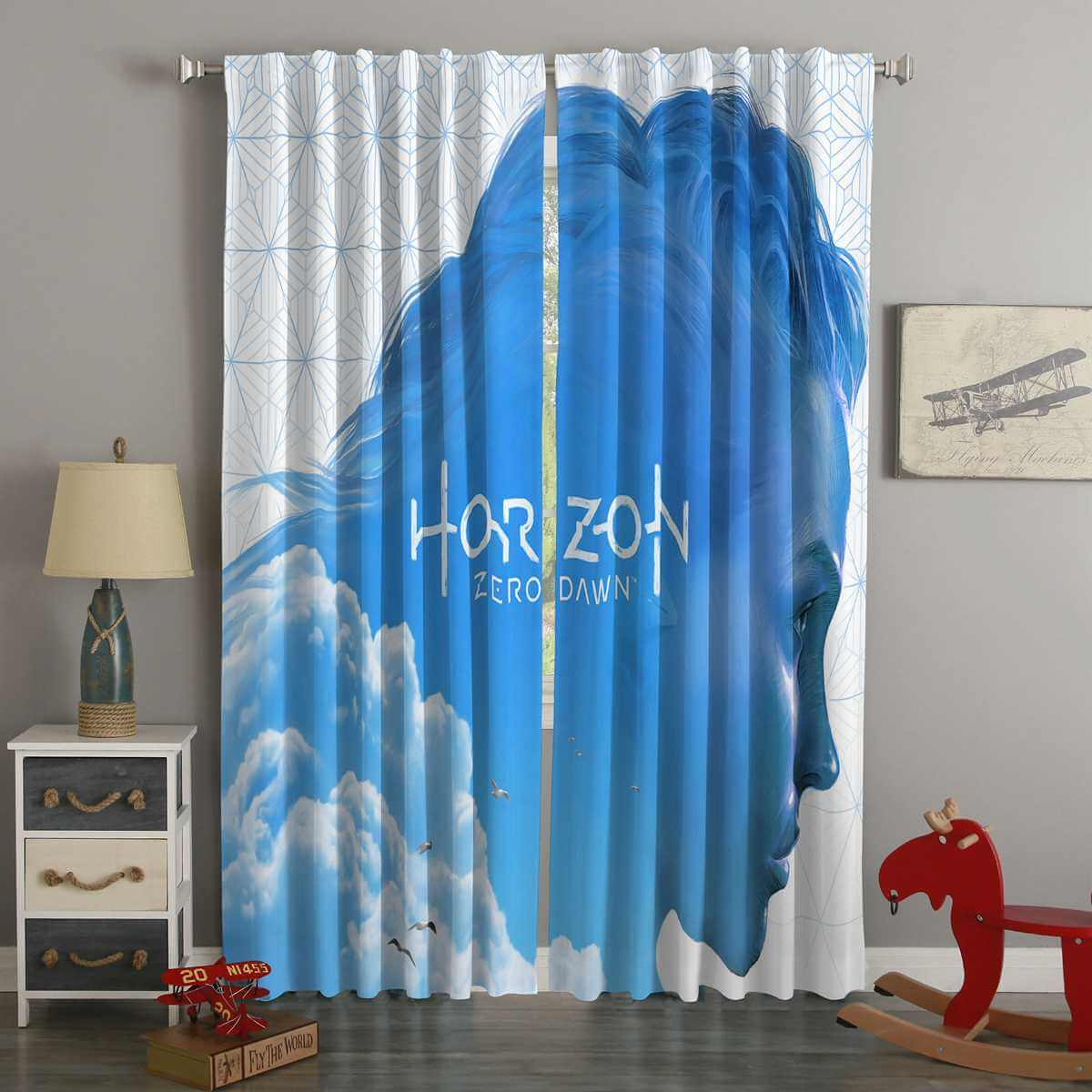 3D Printed Horizon Zero Dawn Style Custom Living Room Curtains
