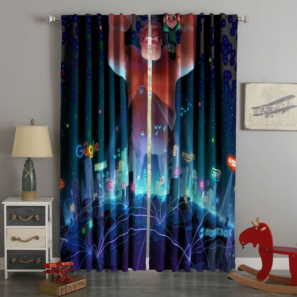 3D Printed Wreck It Ralph 2 Style Custom Living Room Curtains