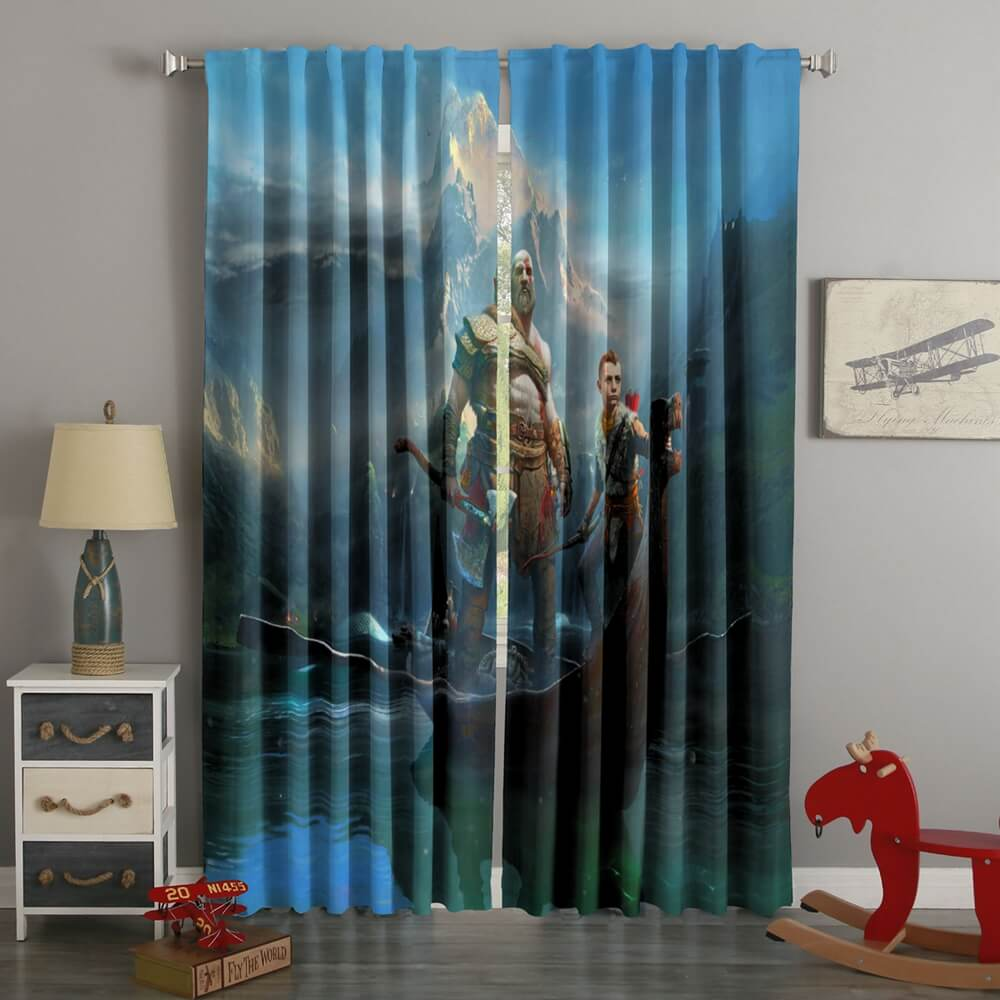 3D Printed God of War Style Custom Living Room Curtains