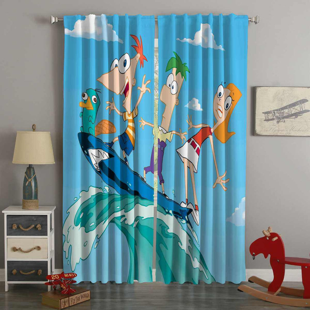 3D Printed Phineas and Ferb Style Custom Living Room Curtains