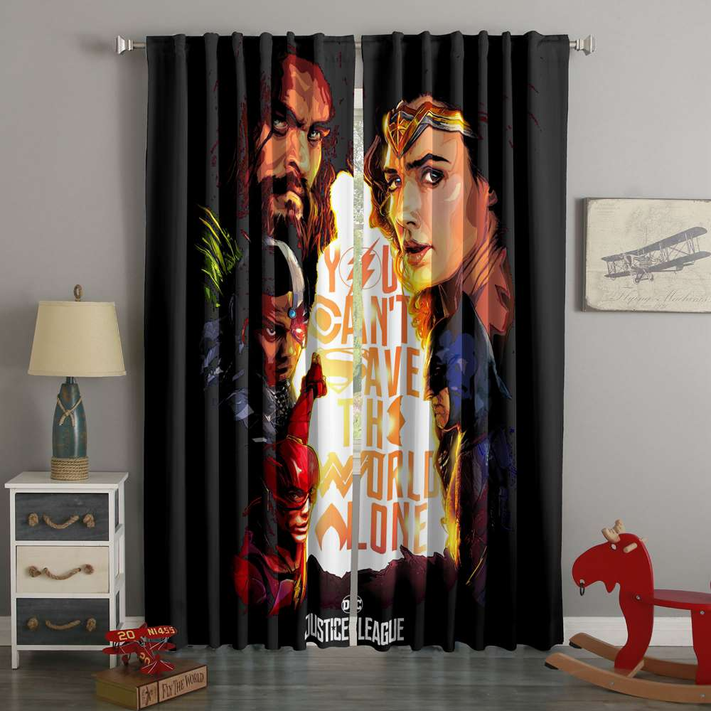 3D Printed Justice League Style Custom Living Room Curtains
