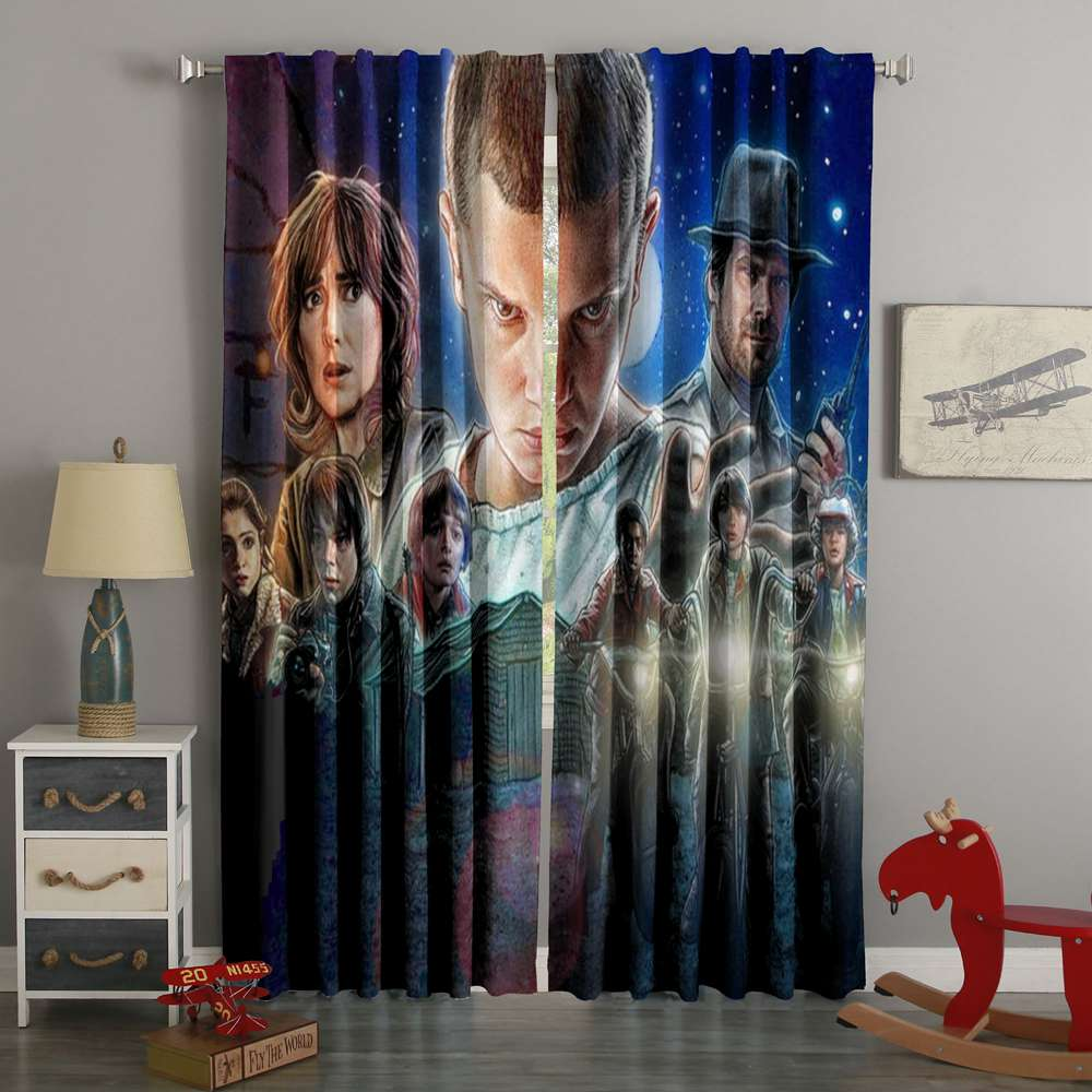 3D Printed Stranger Things Style Custom Living Room Curtains