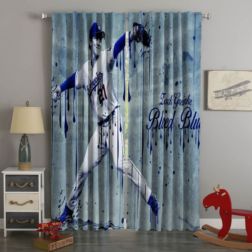 3D Printed Zach Grinko Arizona Diamondbacks Style Custom Living Room Curtains