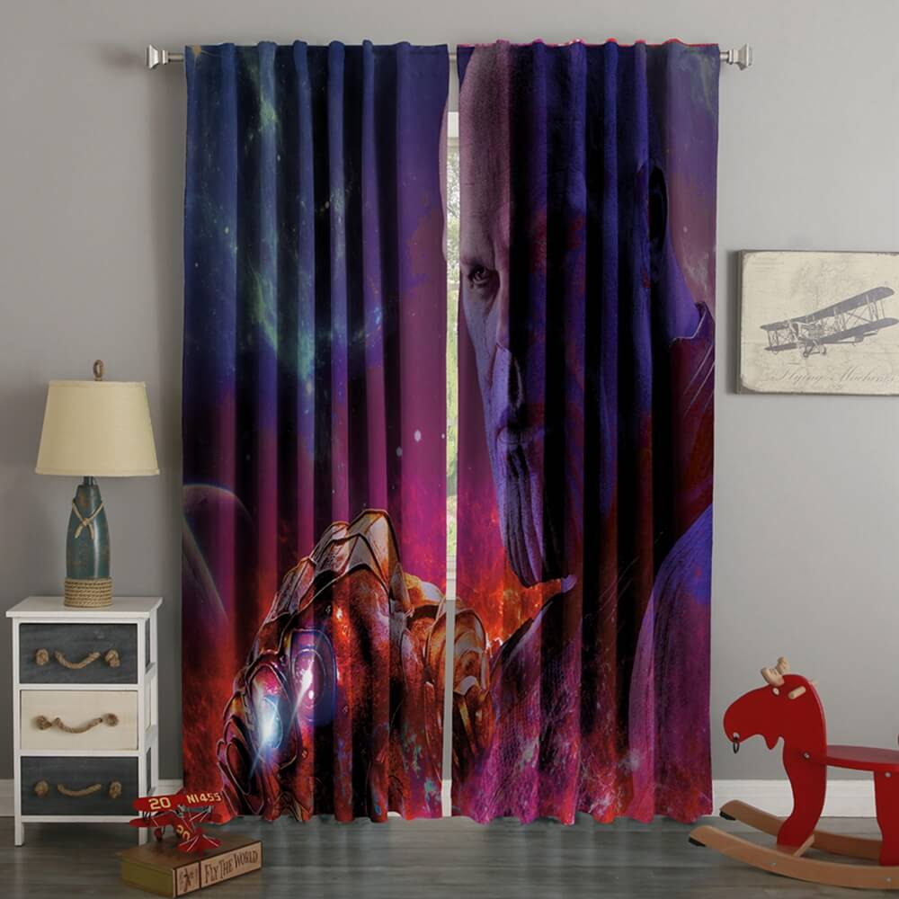 3D Printed Avengers Infinity War Thanos Style Custom Living Room Curtains