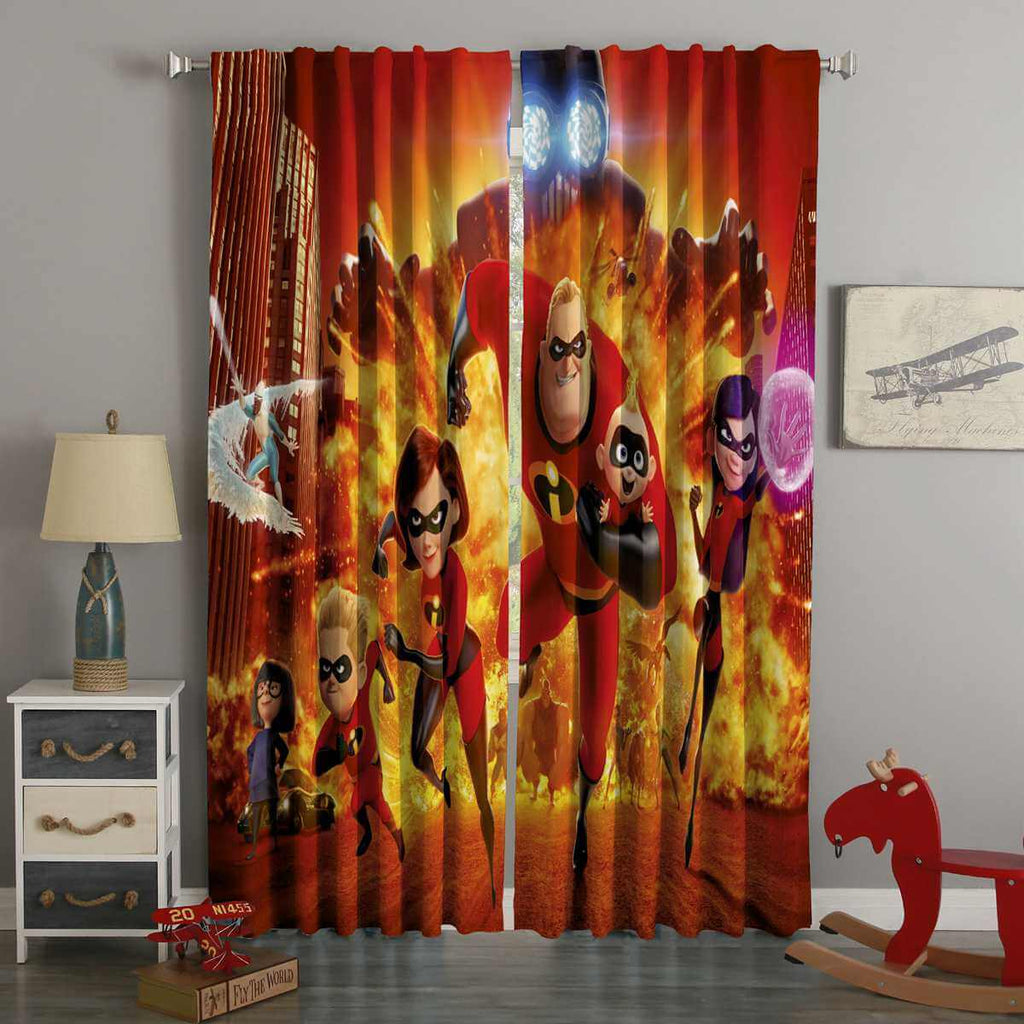 3D Printed Incredibles Style Custom Living Room Curtains