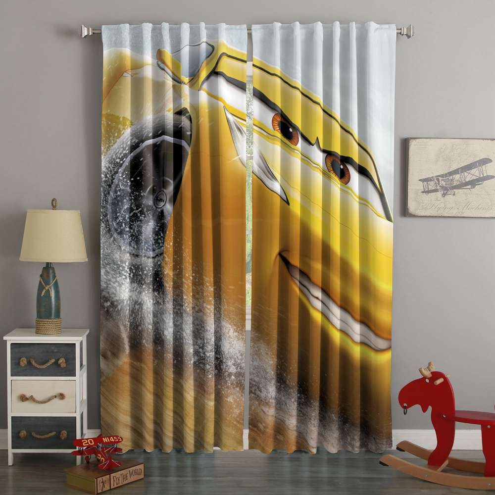 3D Printed Car 3 Style Custom Living Room Curtains
