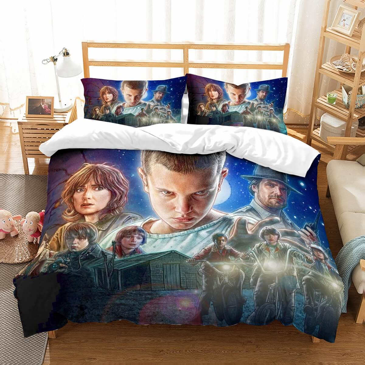 3D Customize Stranger Things Bedding Set Duvet Cover Set Bedroom Set Bedlinen