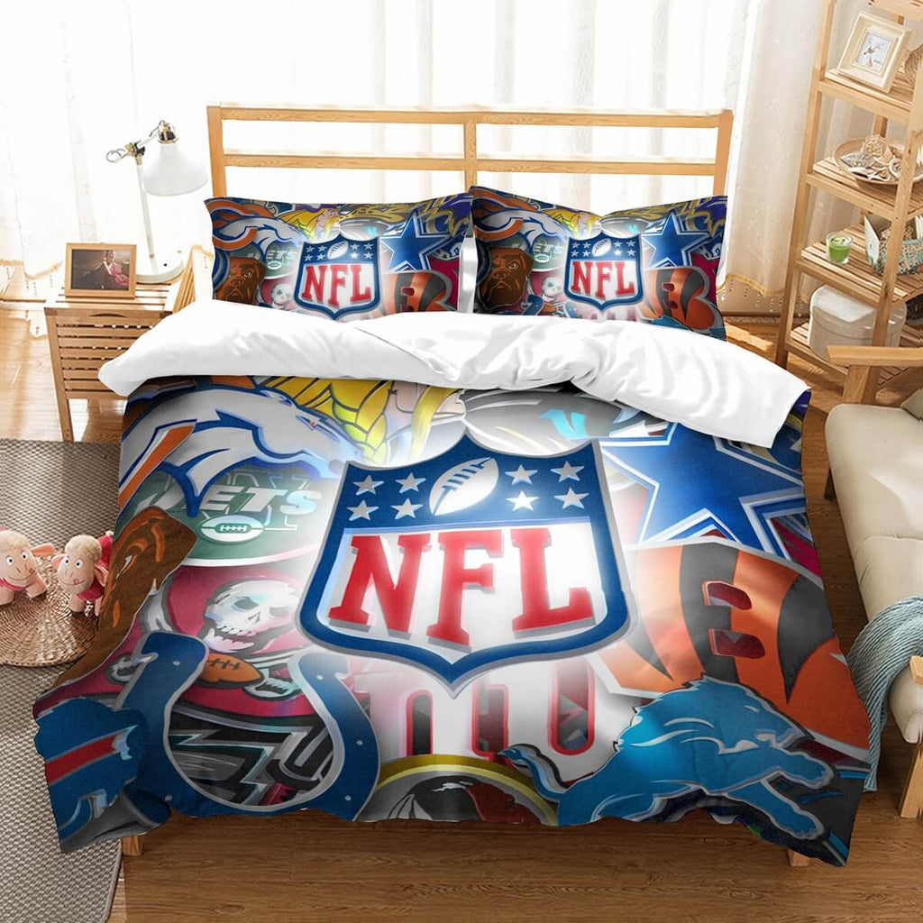 3D Customize NFL Bedding Set Duvet Cover Set Bedroom Set Bedlinen