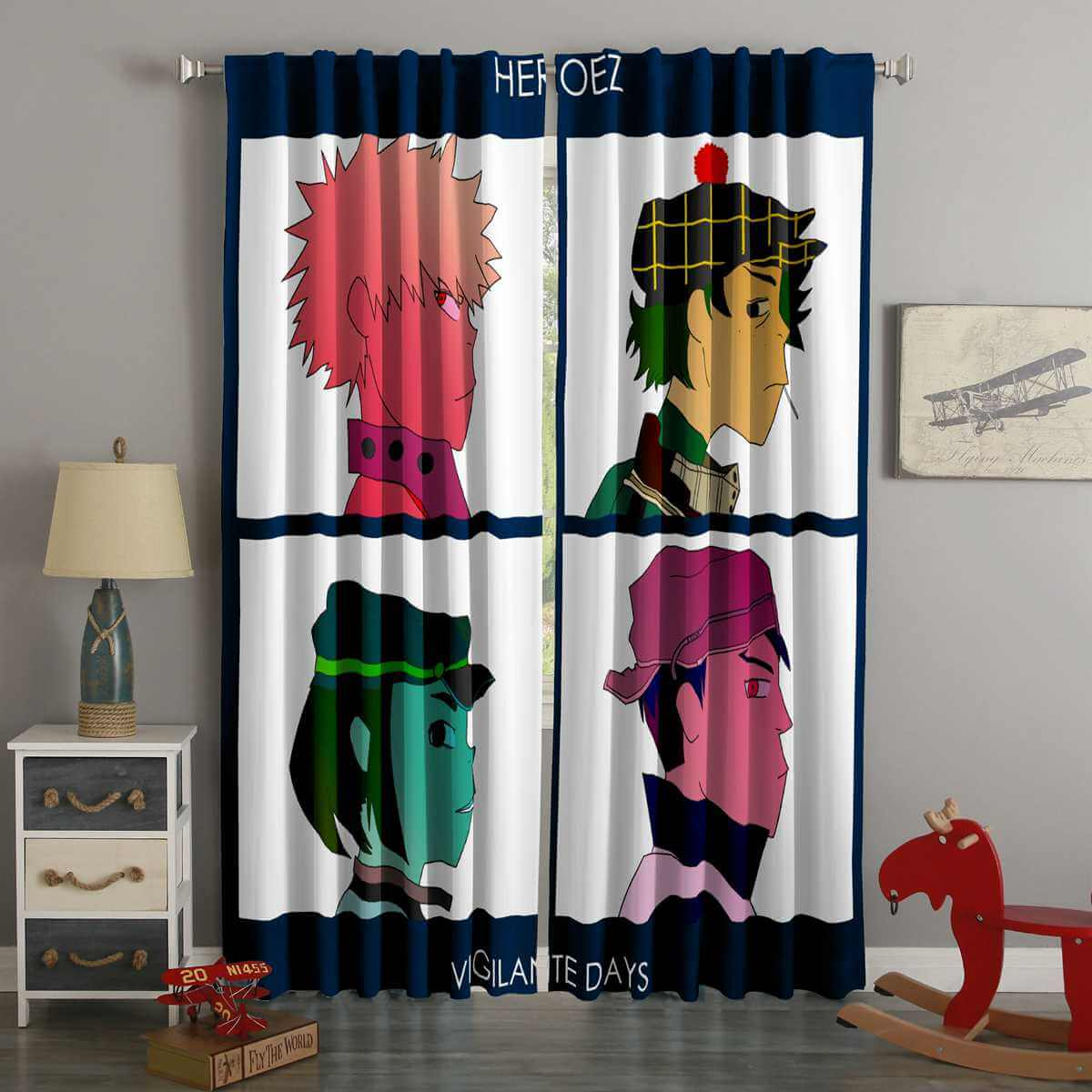 3D Printed Gorillaz Style Custom Living Room Curtains