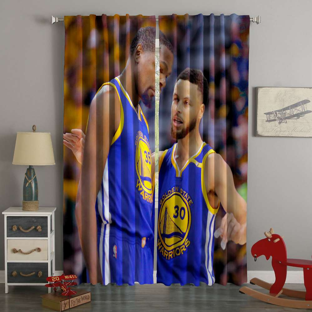 3D Printed Stephen Curry & Kevin Durant Style Custom Living Room Curtains