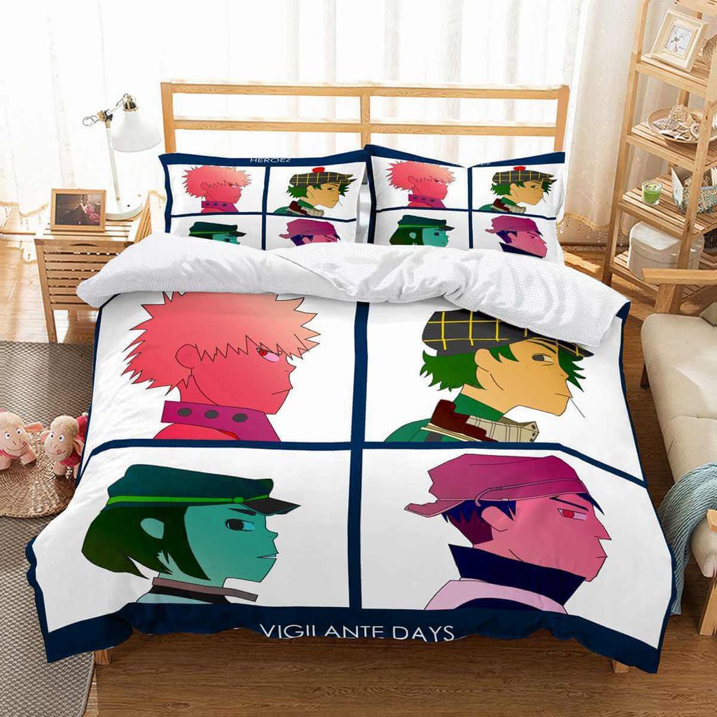 3D Customize Gorillaz Bedding Set Duvet Cover Set Bedroom Set Bedlinen