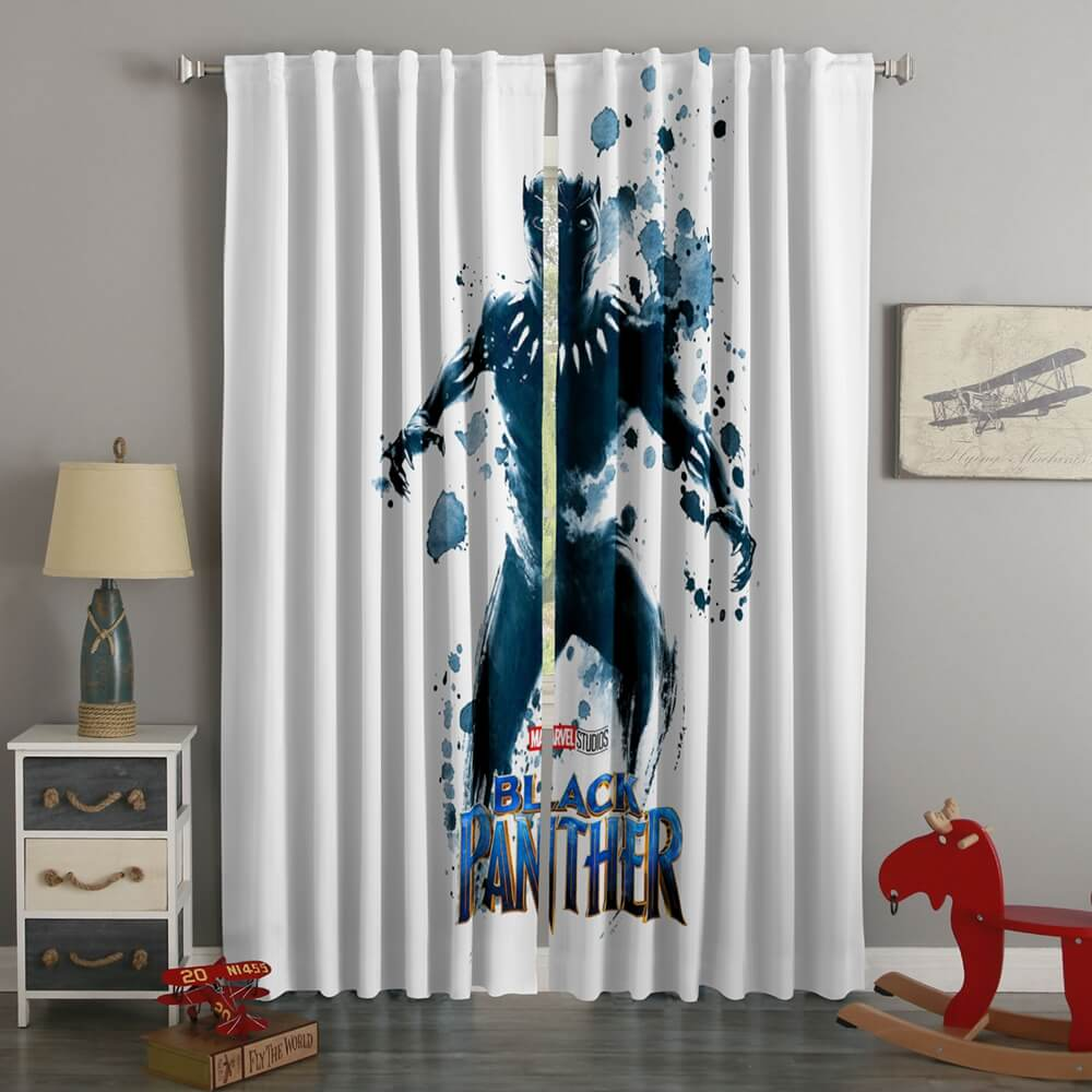 3D Printed Black Panther Style Custom Living Room Curtains