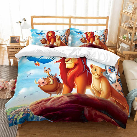 3D Customize The Lion King Bedding Set Duvet Cover Set Bedroom Set Bedlinen