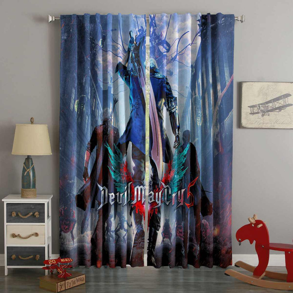 3D Printed Devil May Cry 5 Custom Living Room Curtains