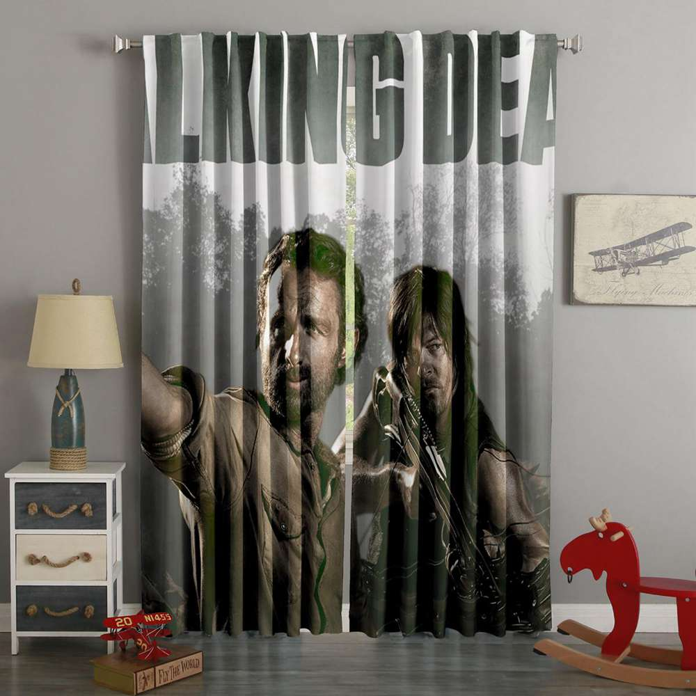 3D Printed The Walking Dead Style Custom Living Room Curtains