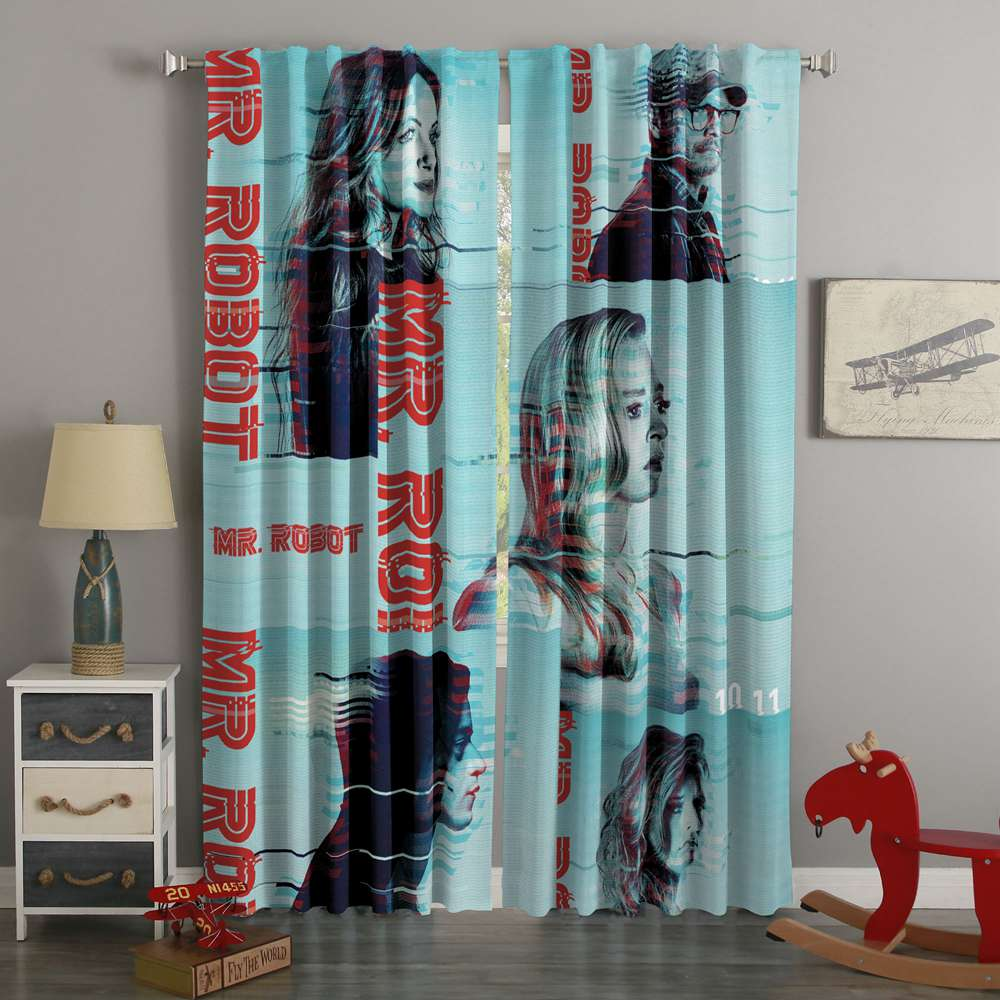 3D Printed Mr Robot Style Custom Living Room Curtains