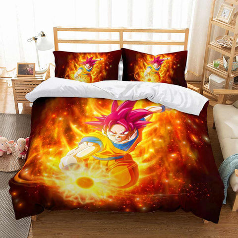 3D Customize Dragon Ball Super Bedding Set Duvet Cover Set Bedroom Set Bedlinen
