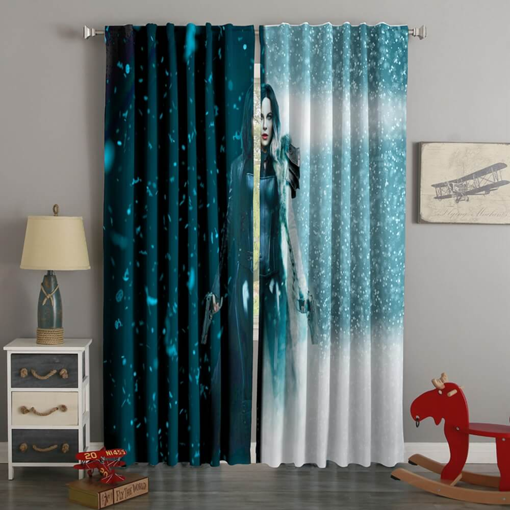 3D Printed Underworld Blood Wars Style Custom Living Room Curtains