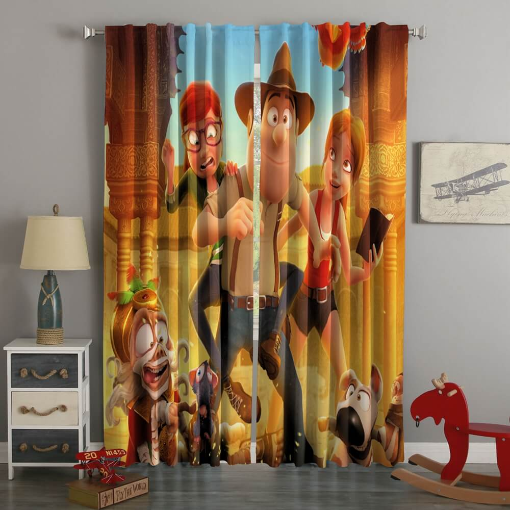 3D Printed Tad Jones The Hero Returns Style Custom Living Room Curtains