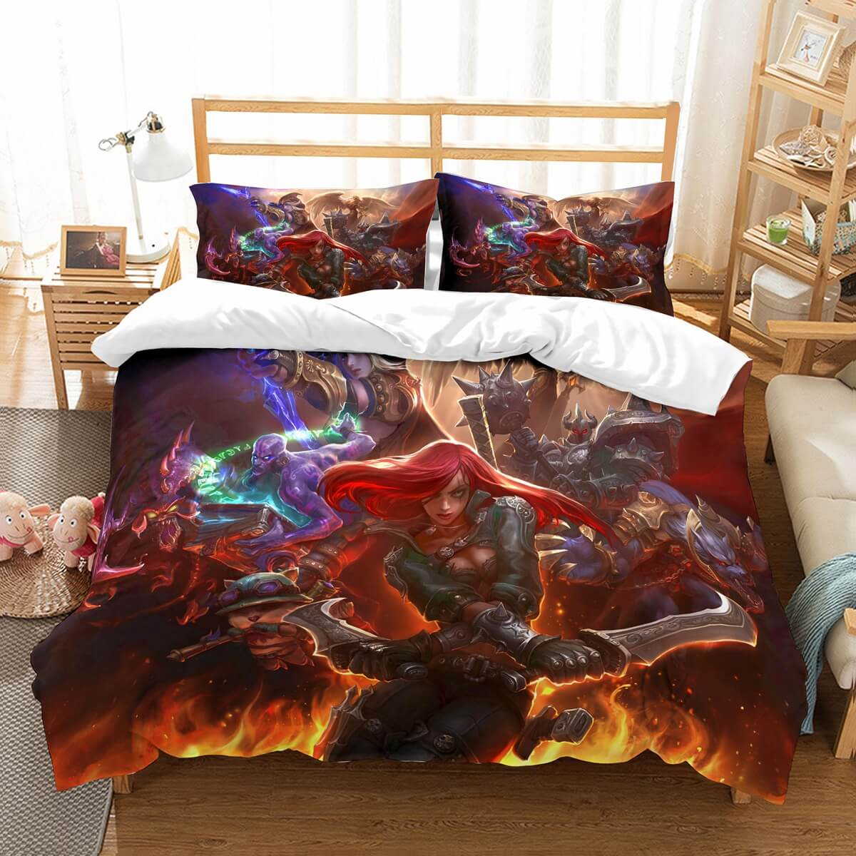 3D Customize League Of Legends Bedding Set Duvet Cover Set Bedroom Set Bedlinen