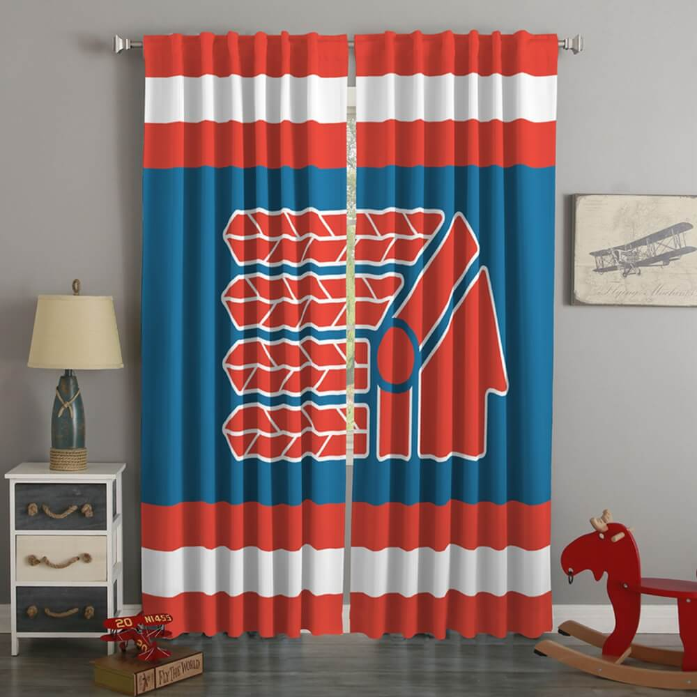 3D Printed Cleveland Indians Style Custom Living Room Curtains