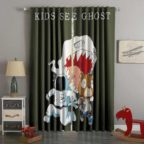 3D Printed Kids See Ghost Style Custom Living Room Curtains