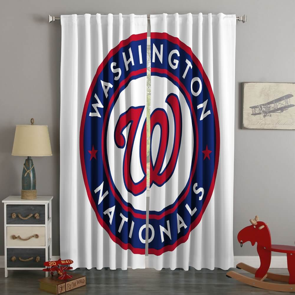3D Printed Washington Nationals Style Custom Living Room Curtains