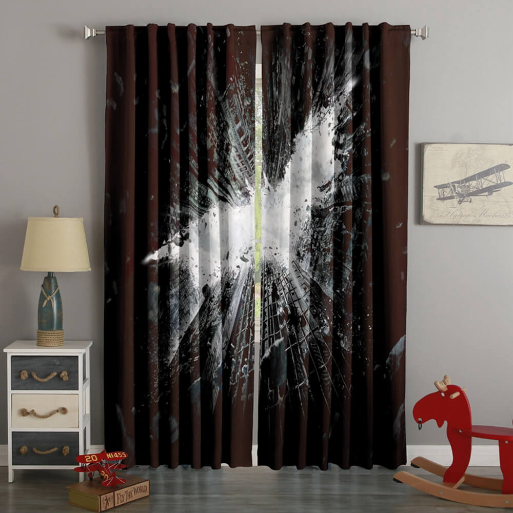 3D Printed Batman Style Custom Living Room Curtains