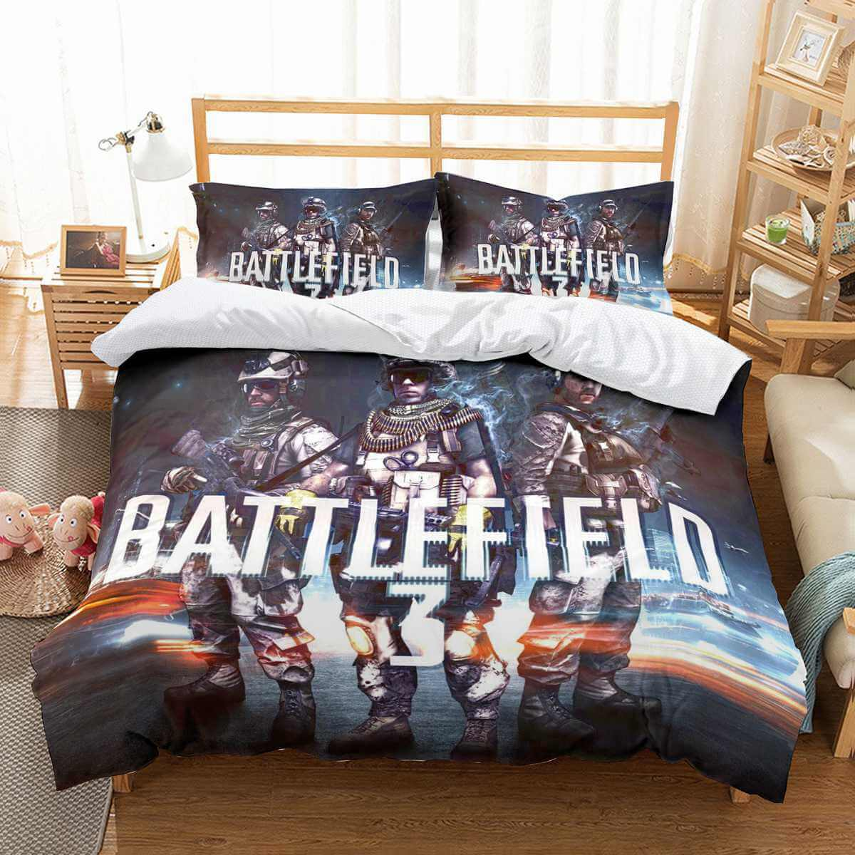 3D Customize Battlefield Bedding Set Duvet Cover Set Bedroom Set Bedlinen
