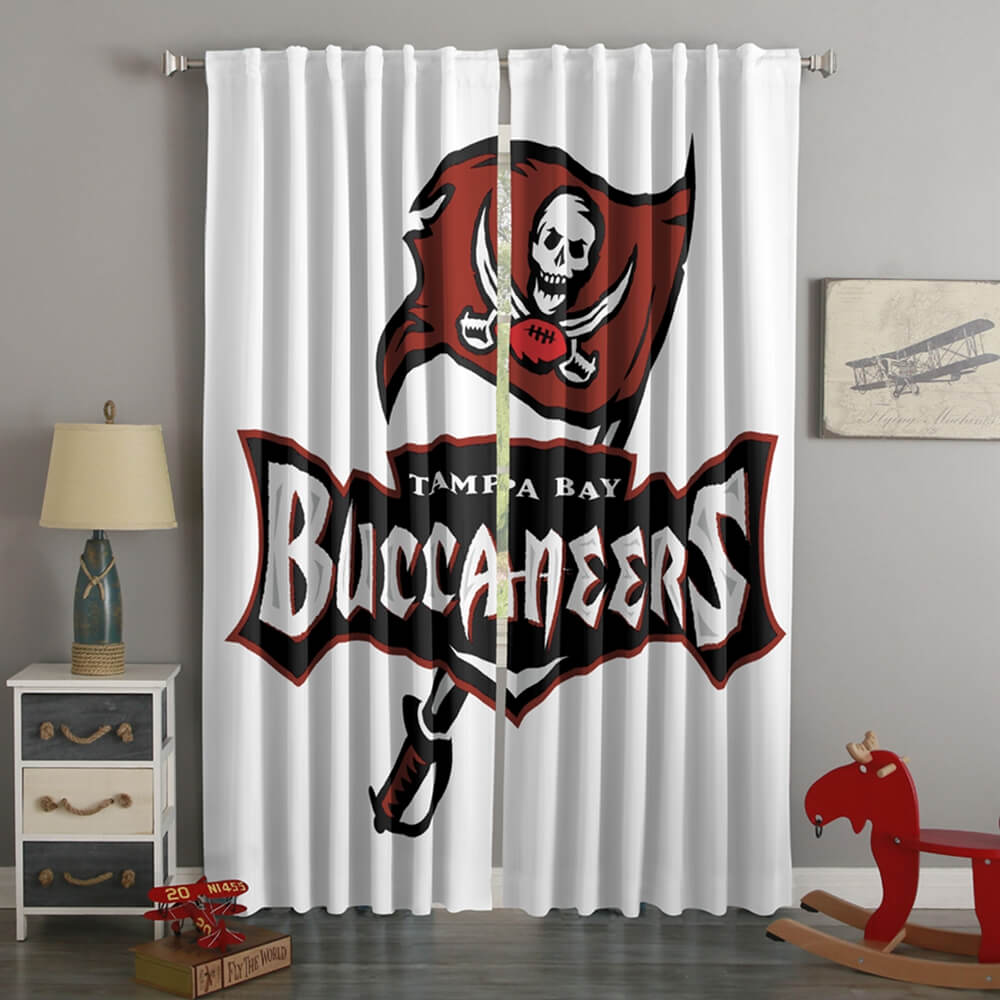 3D Printed Tampa Bay Buccaneers Style Custom Living Room Curtains