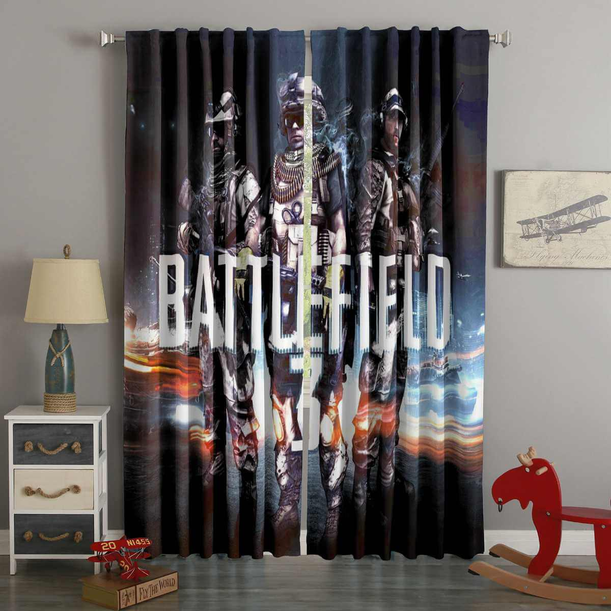 3D Printed Battlefield Style Custom Living Room Curtains