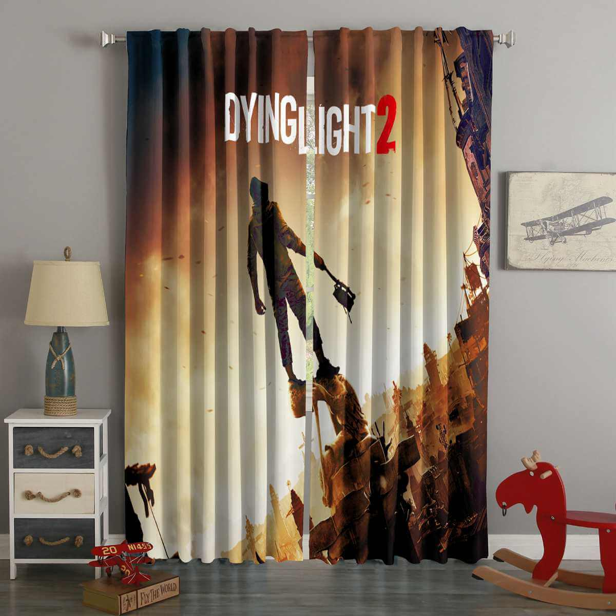 3D Printed Dying Light 2 Custom Living Room Curtains