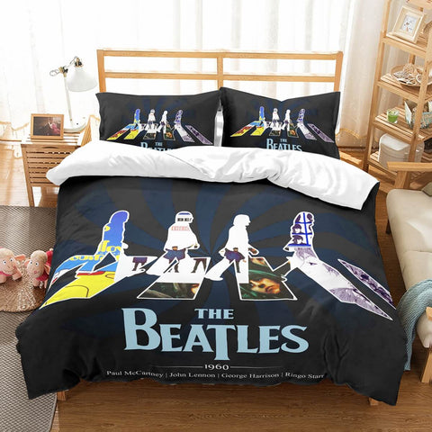 3D Customize The Beatles Bedding Set Duvet Cover Set Bedroom Set Bedlinen