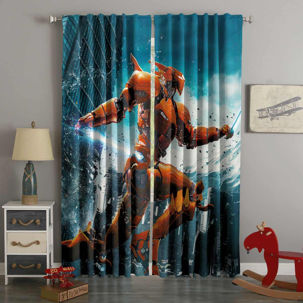 3D Printed Pacific Rim Uprising Style Custom Living Room Curtains