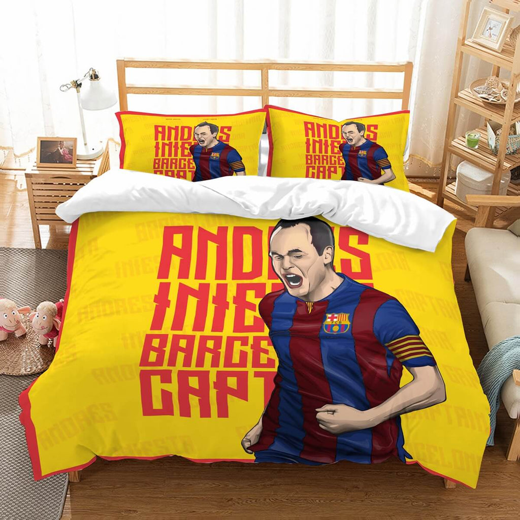 3D Customize Andrés Iniesta Bedding Set Duvet Cover Set Bedroom Set Bedlinen