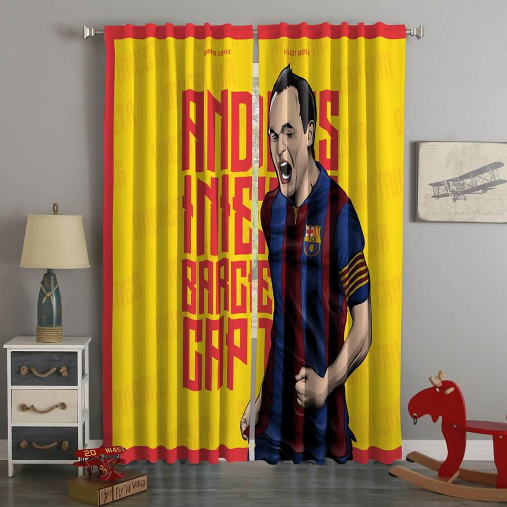 3D Printed Andrés Iniesta Style Custom Living Room Curtains