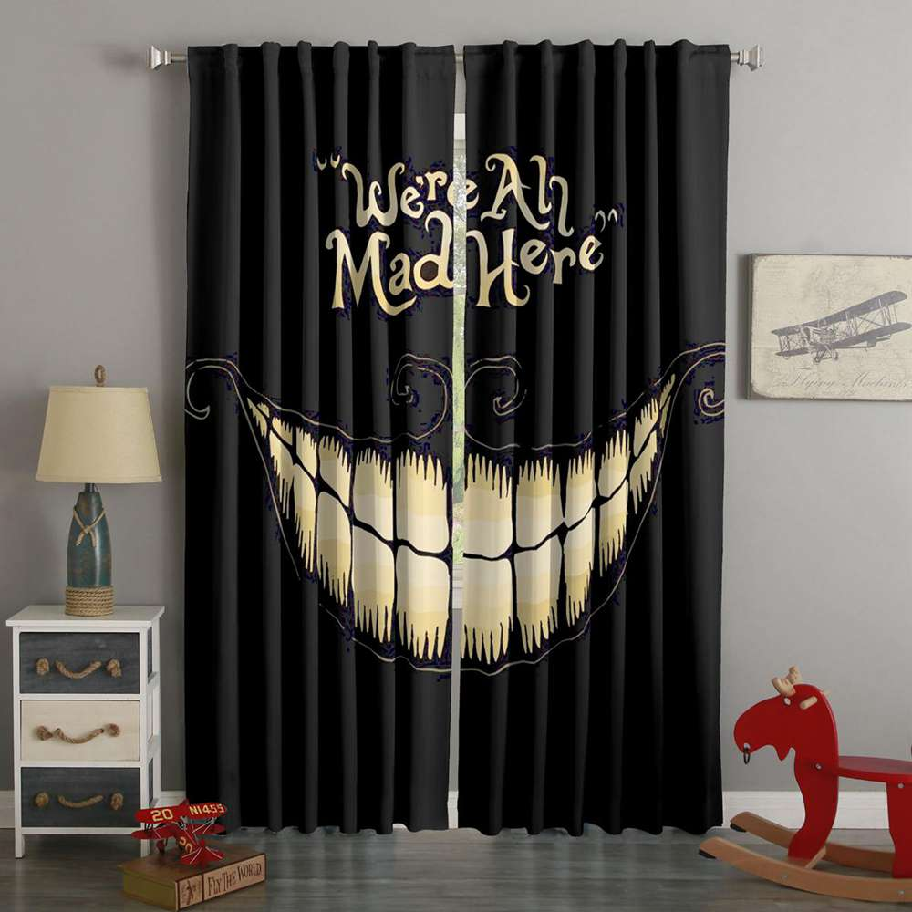 3D Printed Alice In Wonderland Style Custom Living Room Curtains
